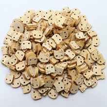 100pcs/lot  manual DIY accessories Kitty cartoon cathead / wood decorative buttons / wooden buttons baby garment accessories