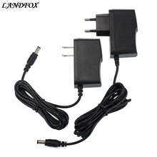 LANDFOX 9V 1A Power Supply Adapter 5.5x2.1mm Input 100V-240V For Arduino US/EU plug Adapter Drop shipping(China)