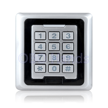 High quality silver K86 metal access control keypad waterproof rfid door access control system can support 8000 users