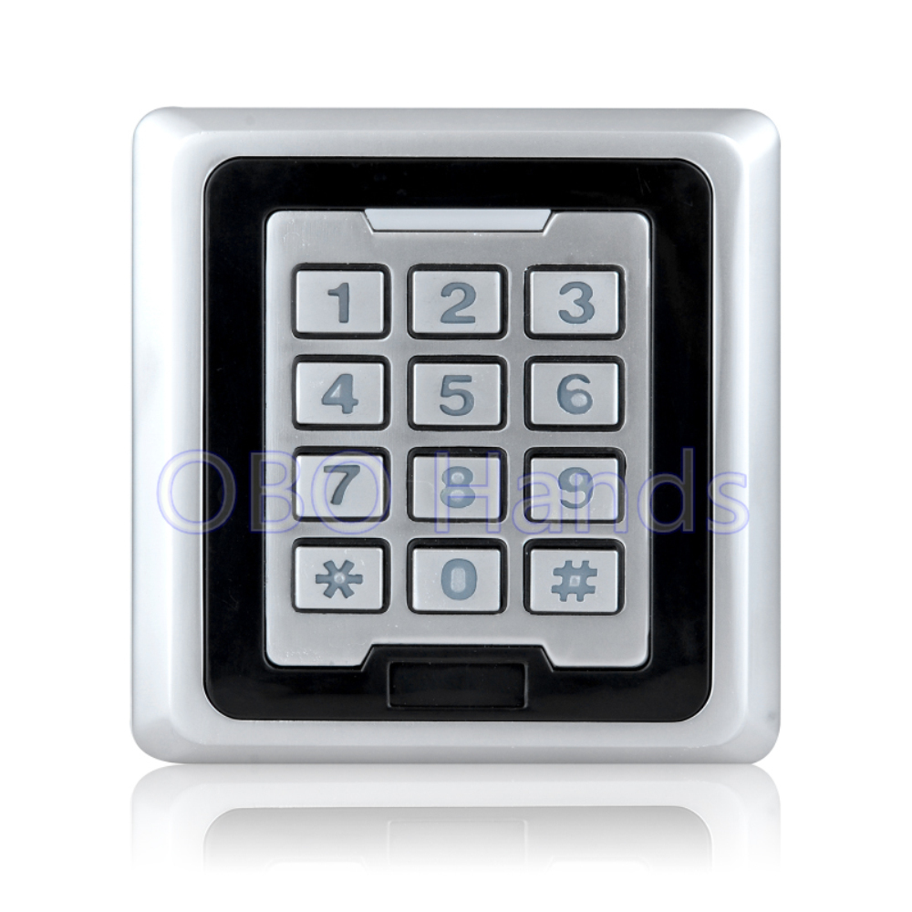 High quality silver K86 metal access control keypad waterproof rfid door access control system can support 8000 users<br>