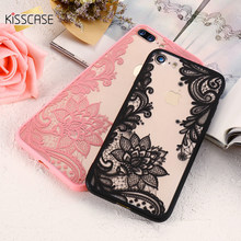 KISSCASE Phone Case For iPhone 6 6s Plus 7 7 Plus 5 5s SE Case Luxury Lace Flower TPU Cover for iPhone 6 Plus 6s Plus 5 5S SE 7(China)