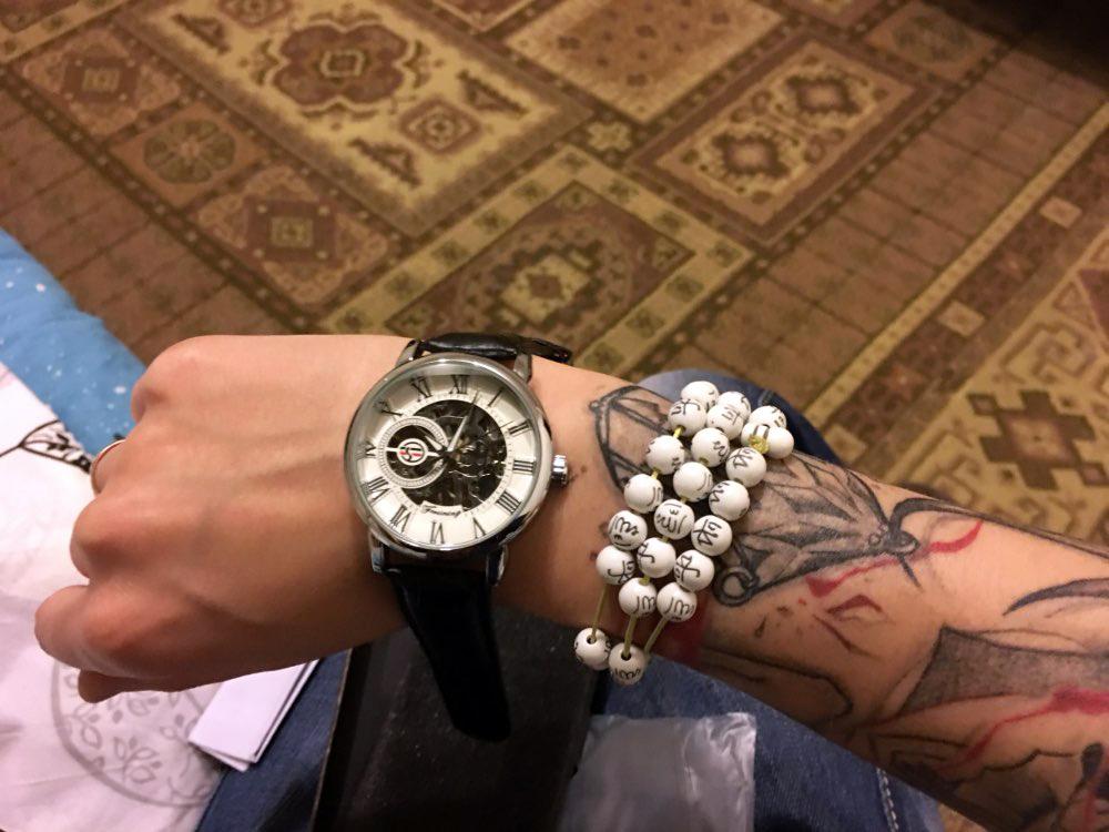Forsining 3d Logo Design Hollow Engraving Black Gold Case Leather Skeleton Mechanical Watches Men Luxury Brand Heren Horloge 20