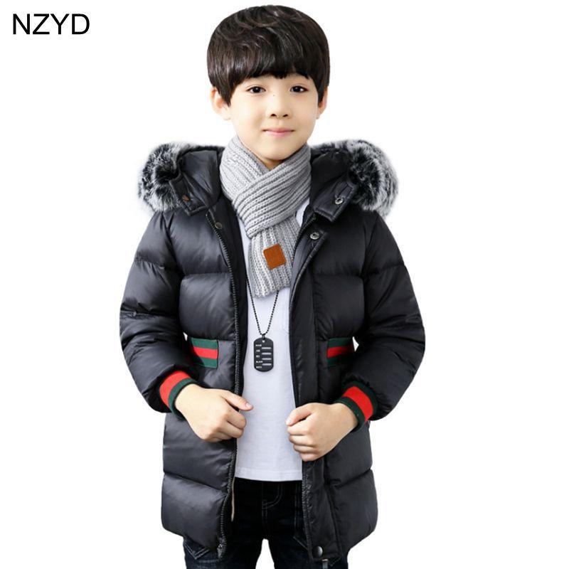 Brand Fashion Childrens Down Jackets/coat winter fur Big boy Coat thick duck Down feather jacket Outerwear Suitable 3-15Y DC646Îäåæäà è àêñåññóàðû<br><br>