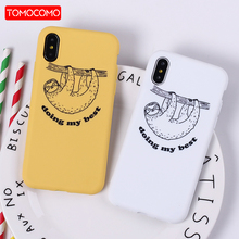 Buy TOMOCOMO Cute Cartoon Sloth Animals Cat Emoji Soft Silicon Printed Phone Case iPhone 6 6S 5 5S SE 8 8Plus X 7 7Plus Fundas for $1.99 in AliExpress store