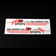 Quattro Rearview Mirror Car Sticker 3M Vinyl Wrapping Adhesive Sticker Label Sline Auto Racing Decal PVC Sticker Car Styling