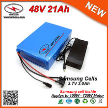 Greenworks 1000W Electric Bike Battery Pack 48V 21Ah Sansung 18650 Cell with 30A BMS 2A Charger Free Shipping(China)