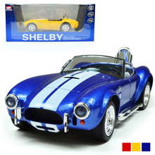 MZ  1964 Shelby  Cobra 427 Diecast Metal Model 1:32 Alloy Pull Back Gift Toy Cars Collection  Free Shipping