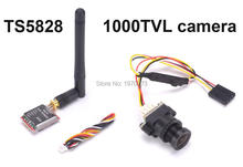 FPV 48CH TS5828 Transmitter 600mW + 1000TVL 2.8mm Mini Digital Video Audio Camera 1000 Line N/P Pattern For Aerial Photography