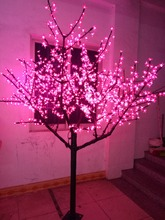 Free ship LED Cherry Blossom Tree Light Christmas Holiday Party wedding home Tree Light 1152pcs LEDs 6.6ft pink waterproof(China)