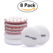 Miss Gorgeous 8PCS/SET Soft Air Cushion Puff Beauty Makeup Foundation Contour Facial Sponges Powder Puff BB Cream Make Up Sponge