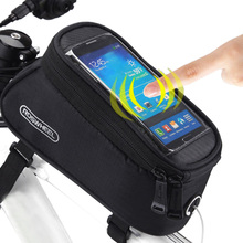 "Besegad 4.8"" 5.5"" Bicycle Handlebar Cycling Bag Phone Holder Bike Bag & Touchscreen Capability Front Pocket Cellphone Pouch Case"