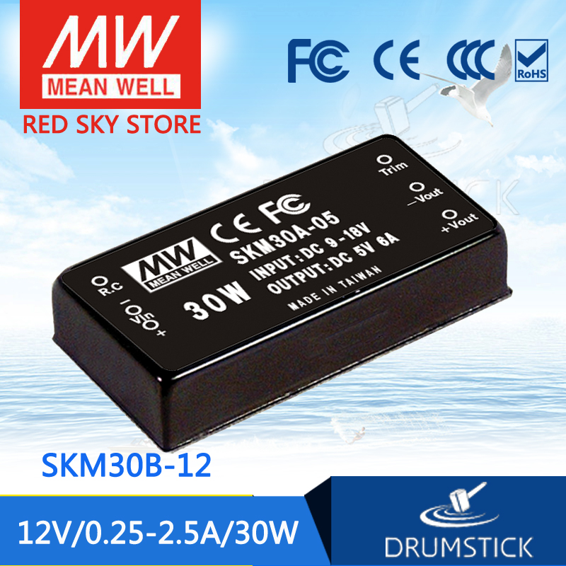 Selling Hot MEAN WELL SKM30B-12 12V 2.5A meanwell SKM30 12V 30W DC-DC Regulated Single Output Converter<br>