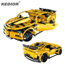 RC Track High Speed Remote Control Race Car Machine Radio Controlled Cars Model Building Blocks Toys For Boys Game(China)