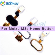 Meizu M3S mini Home Button MEIZU M3S FingerPrint Flex Cable Ribbon Replacement Parts Black / White / Gold MEIZU M3S mini Button