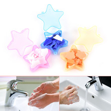 LIXUAN 1Pc Colorful Gift Bath Body Soaps Travel portable Fragrant Flower Petal Soap piece