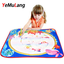 Non-toxic Drawing Board Colorfull Water Drawing Mat With Magic Pen Board Painting and Writing Doodle for Baby Kids Drawing Toys(China)