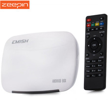 EMISH X700 Mini PC TV Box Android 4.4 Rockchip 3128 Quad Core WiFi HDMI 1GB 8GB Set Top Box Support SKYPE / MSN / Facebook