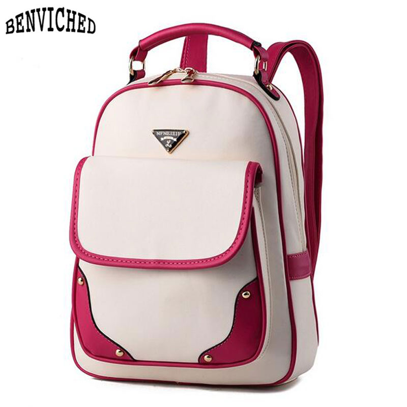 Fashion Women Leather Backpack Preppy Style School Bags for Teenagers Girls New 2017 Rucksack Feminine Knapsack<br><br>Aliexpress