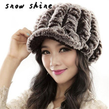 snowshine #5003 Women Fashion Hats Handmade Warm Caps Female Headgear free shipping(China)