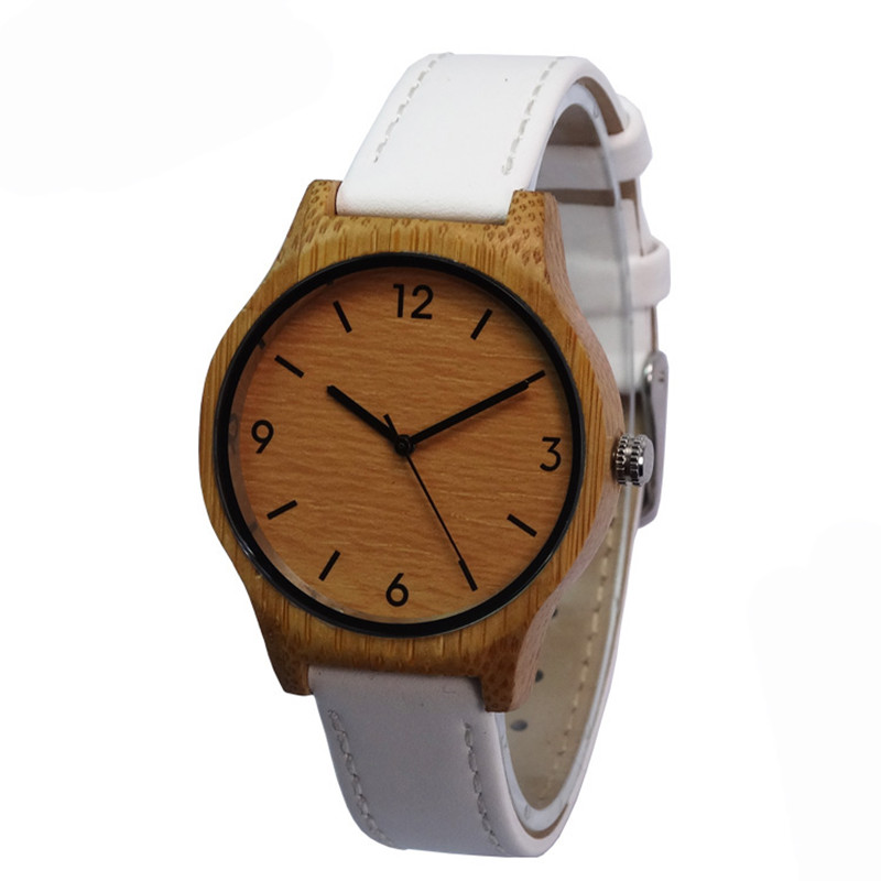 hot selling bamboo wooden womens watch with leather straps<br><br>Aliexpress
