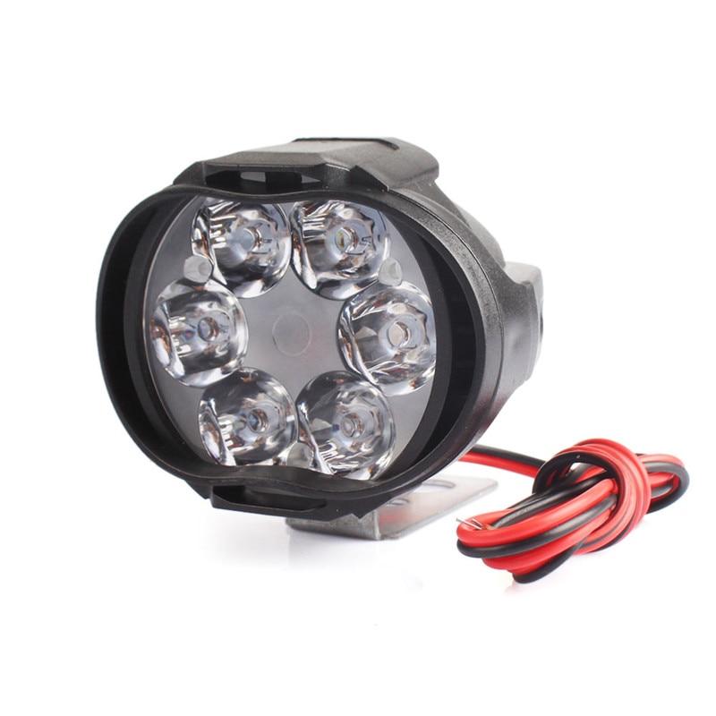 2x 8W White Motorcycle Front Light LED Spotlight Fog Lamp 800LM 9-85V Universal