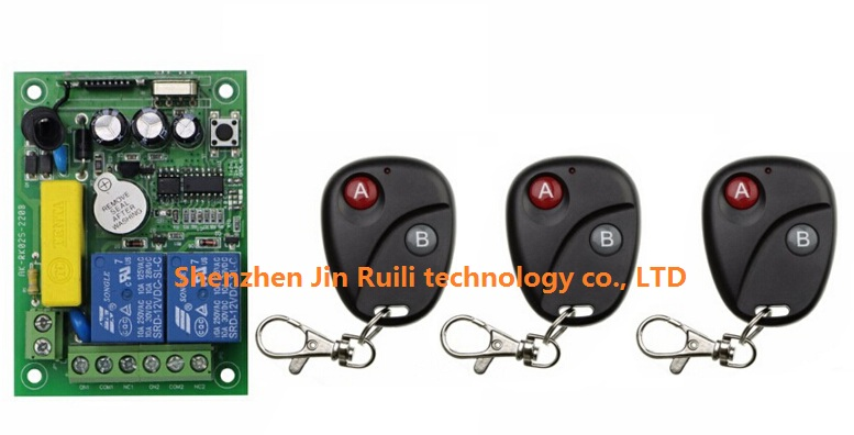AC 220V 2 road Wireless Remote Control Switch 1 pcs receiver + 3 pcs transmitter Simple operation<br><br>Aliexpress