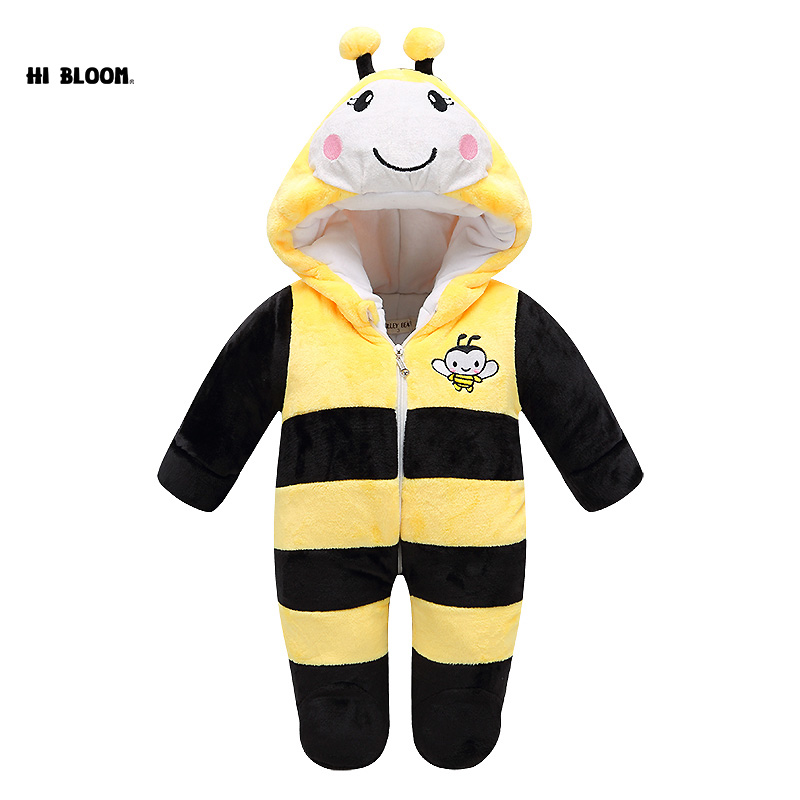Bee Mickey KT Long Sleeve Rompers For Babies Brand Baby Clothing Winter Baby Jumpsuit Romper Warm Soft Jumpsuit Set For Newborn<br>