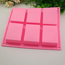 6 Cavity Cake Tools 2017 Hotselling Plain Basic Rectangle Silicone Mould For Homemade Craft Soap Mold Dropshipping  523