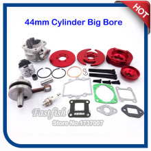 44mm Big Bore Kit Crankshaft Gasket Set 3 Grooves Red For 47cc 49cc Mini Dirt ATV Pocket Bikes(China)