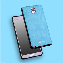 For Samsung Galaxy Note 3 Case Soft TPU Silicone Case Slim TPU + PU Leather Back Cover For Samsung Galaxy N9000 N9005 Case