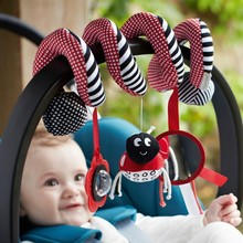 Funny Cute Play Activity Spiral Baby Stroller& Bed Toy Newborn Kids Hanging Bell Crib Rattles Toys(China)