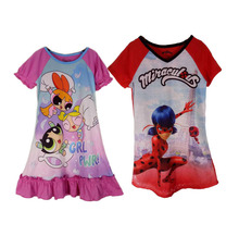 Kids Miraculous Tales of Ladybug T-Shirt Powerpuff Girls Dress Miraculous Ladybug Costume Cat Adrien Cosplay(China)