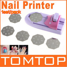 Lower Price1set/pack DIY Pattern Printing Manicure Machine polish Stamper Tool Set Nail Art Printer Diy Color Acrylic Paint Tips(China)