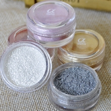 Eye Shadow Loose Flash Powder Super Bright Pearl Shining White Face Finished Powder Bright Glitter Luminous Eye Makeup Cosmetic