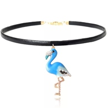 Pendant Animal Blue Bird Ethnic Fashion Boho Collar Collier Women Choker Necklaces Female Jewelry Party Accessories Gifts