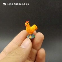 Funny Simulation Cock Model Resin DIY Micro Toy Kid Game