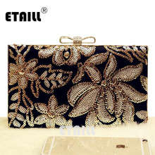 ETAILL Dazzling Glitter Silver Sequins Clutch Bags Womens Luxury Brand Clutch Bags Golden Shoulder Bag Wedding Crossbody Bags