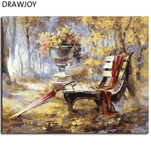 DRAWJOY Abstract Landscape DIY Framed Picture Painting By Numbers Home Decoration Canvas Oil Painting Wall Art 40*50cm GX7816(China)