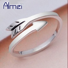 Almei 2017 Wedding Rings for Men /Women Boy/Girls Kids Fashion Silver Color Gothic Ring Jewelry USA Dropship Suppliers Y080