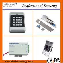 Door access control without software smart card RFID card reader with switch 12V 3A power supply,magnetic lock single door lock