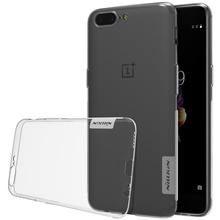 Oneplus 5 Case Nillkin Nature Series Transparent Clear Silicon Back Cover TPU Case For Oneplus 5 / 3 3T 5.5 inch(China)