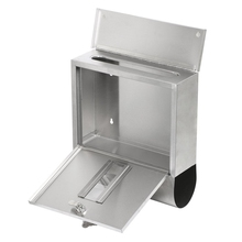 Practical Waterproof Stainless Steel Lockable Mailbox Newspaper Holder Outdoor Mail Post Letter Box(China)
