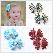 Buy Handmade Flowers Ribbon Bows Baby Girls Kids Hair Clip Pin Accessories Child Hair Bows Barrette Hairpins Headwear Wholesale for $1.22 in AliExpress store
