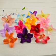 7cm Artificial silk orchid flower head for wedding decoration diy crown gift scrapbooking fake flowers