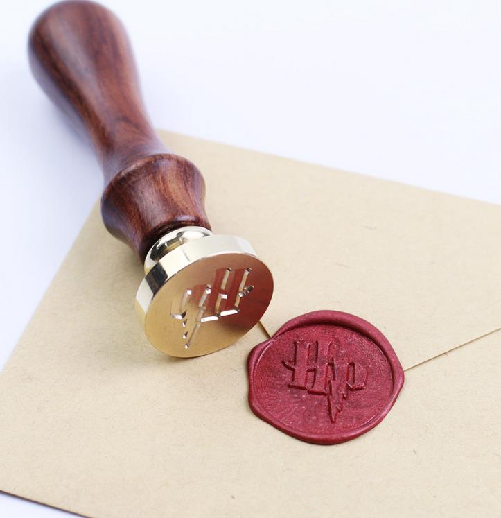 Sealing Wax STAMP Classic Initial Wax Seal Stamp Harry Potter Pattern with rosewood handle vintage HP logo<br><br>Aliexpress