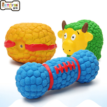 New pet toy for teddy golden retriever toy squeak toy chew toy solid resistance to bite dog interactive toy burger bread(China)