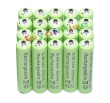 20x AAA 1800mAh 3A 1.2 V Ni-MH Green Rechargeable Battery Cell for MP3 RC Toys