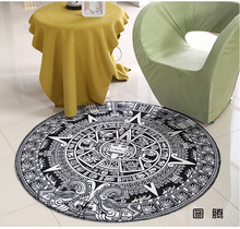 Black White Round Mat 60/80/100/120/160CM alfombras dormitorio Carpet Living Room Deurmat rugs Swivel chair Mats tapis chambre