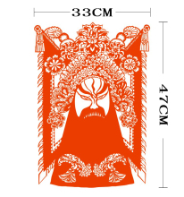 Antique GuanGong Face PU Heat Transfer Film Paper Cutting Classic Personality Manual DIY Printing T-shirt On Iron Turn Head High(China)