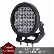 "9.5"" Round 225W LED Work Light Driving Fog Lamp Offroad 12V 24V Auto SUV Car Pickup Wagon Truck Boat Tractor UTV 4X4 Headlight"
